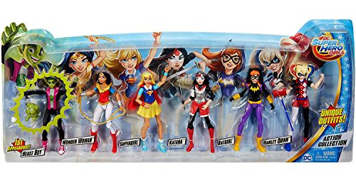 DC Super Hero Girls Dolls 6 Figure Action Collection with Beast Boy and New Outfits -