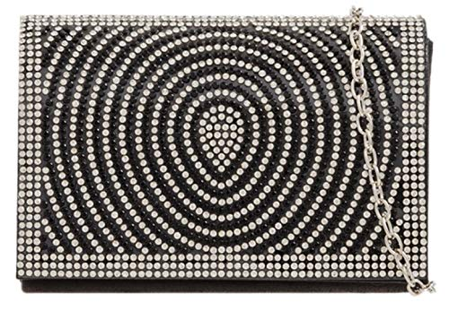 HandBags Diamante Retro Clutch Black HandBags Retro Girly Girly Bag BSIq57