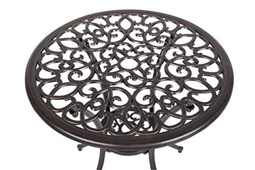 Patio Sense 3-Piece Antique Bronze Cast Aluminum Bistro Set (item_by#map-discounts ,ket168121951258779