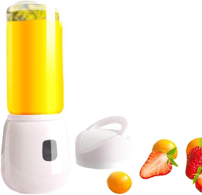 BHJqsy licuadora portátil Mezclador de jugos, Mezclador portátil, Exprimidor de carga, Taza de jugo portátil pequeña, Mezclador de jugos eléctrico for el hogar, Mini Taza frita automática de frutas, T: Amazon.es
