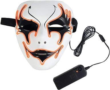 WangWtry Máscara Luminosa Halloween El Resplandor de la Luz Fría ...