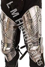 L M Handicrafts Medieval Gothic Leg Guard Armor Set cuisse Leg Armor- Metallic