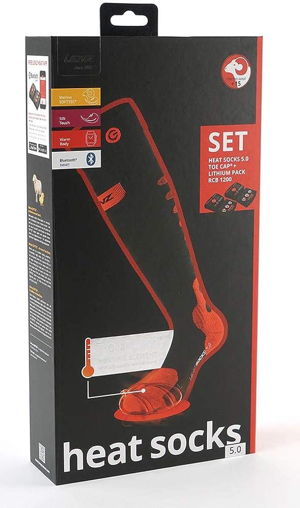 Lenz Heated Socks 5.0 Toe Cap Lithium Pack rcB 1200