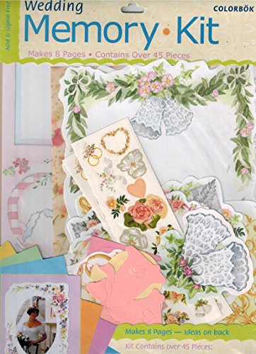 Colorbok Scrapbook Wedding Memory Kit, 45 pieces (Colorbok Kit Scrapbook)