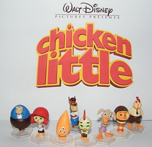 Disney Chicken Little Movie Deluxe Figure Toy Play Set of 8 Featuring Chicken Little, Foxy Loxy, Ugly Duckling, Fish Out of Water, Alien Kid and More! (Chicken Little Figures compare prices)