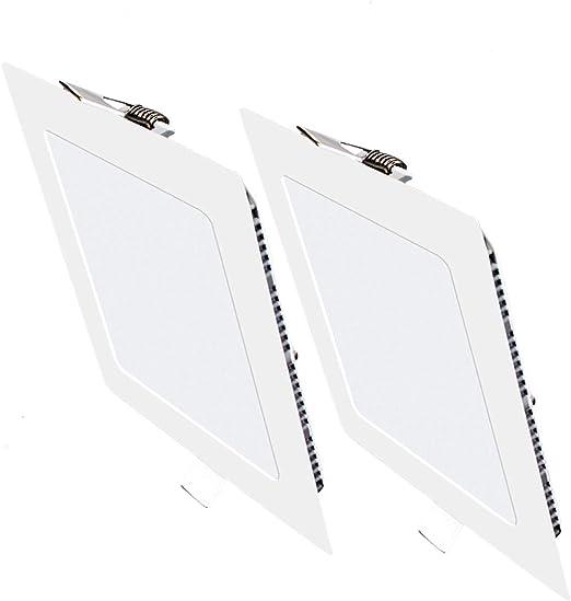 Pack 2x Downlight LED Led Panel light Cuadrado 3W 6500K blanco ...