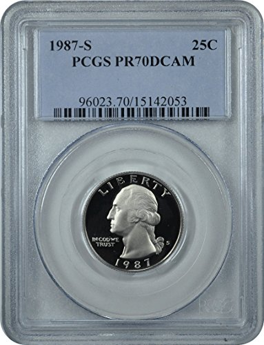 1987 S Washington Washington Quarter DCAM PCGS PR-70