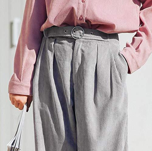 Femme Pantalon Jambes De Sport En 2018 Nouveau Vrac Simple Casual Taille Haute Ceinture Confortable Style Mince Pantalons Chic Long Avoir Blansdi Automne Gris Large PZiXuTwOkl