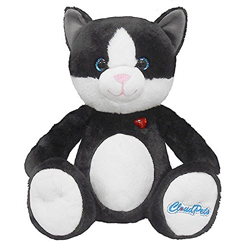 CloudPets Talking Cat - The Huggable Pet to Keep in Touch Through the Cloud, Recordable Stuffed (Recordable Bluetooth)
