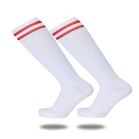 Slip Socks, Toalla Abajo, Futbol Medias, Medias Y Calcetines Finos,Blanco,