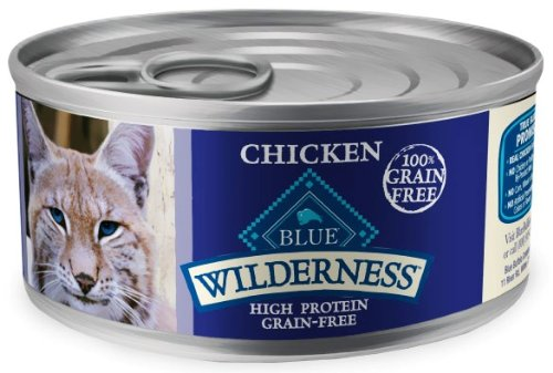 Blue Buffalo Wilderness Grain Free Canned Cat Food, Chicken Recipe (Pack of 24 3-Ounce Cans), My Pet Supplies