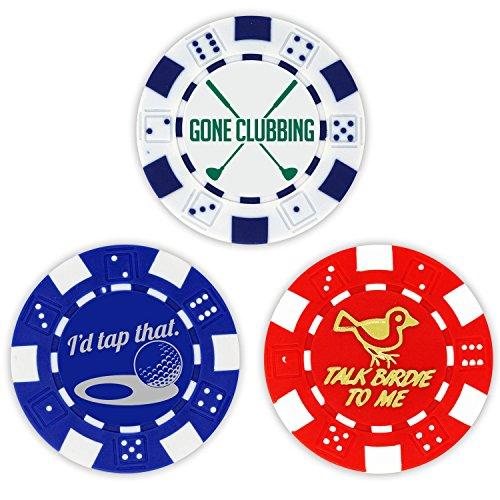 Golf Ball Marker Poker Chip Collection, 11.5 gram Chips (3-Pack) Collection Golf Balls