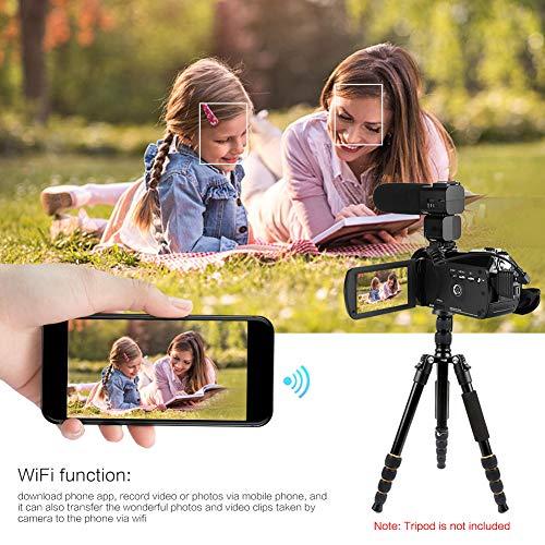 HDV-Z20 3.0 in IPS Screen WiFi 16x Digital Zoom 1080P DV Digital Camera Screen WiFi 16X Digital Zoom 1080P DV Digital Video Camera (110-240V),Jadpes
