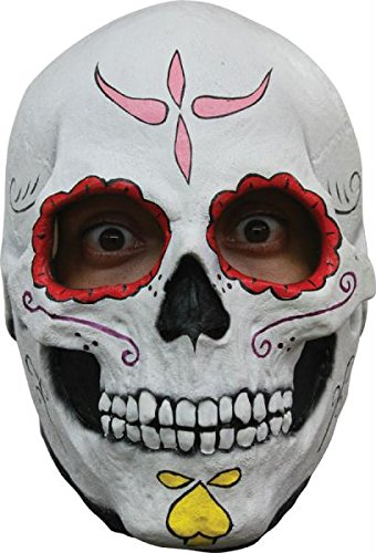 [Mask Head Day Of The Dead- Catrina Skull] (Catrina Costume For Sale)