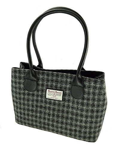 Genuine Harris Tweed Ladies Cassley Classic Handbags In Various Colours LB1003 Grey