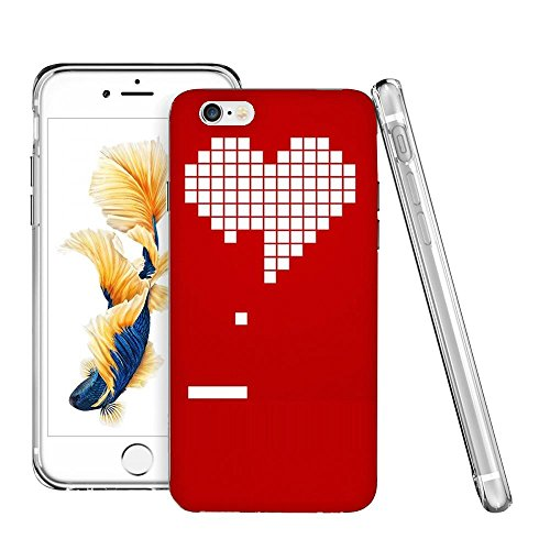 Thwo M84004_8 Bit Heart Valentines Day Wallpaper phone case for iphone 6/6s plus