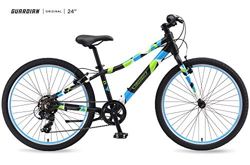 "Guardian Lightweight Kids Bike 24 Inch, Safe Patented SureStop Brake System, Kids Mountain Bike, Bike Sizes for Kids 4'2"" - 5'1"", Boys Bikes and Girls Bikes (AS SEEN ON Shark Tank)"