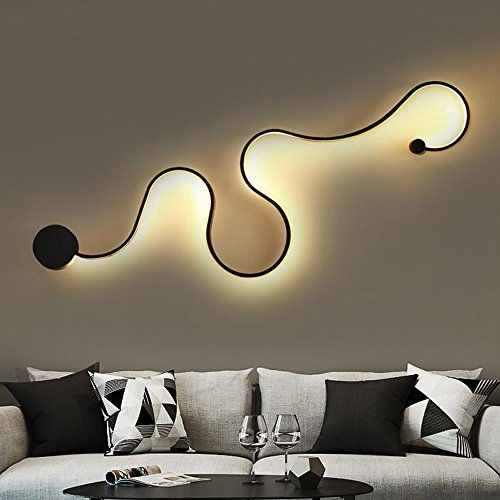 Nclon Modern Creative Northern europe Wall sconces,Led Acrylic Simple Living room Bedroom Bedside Wall sconces light Included Light source-A-12033cm-Warm Light
