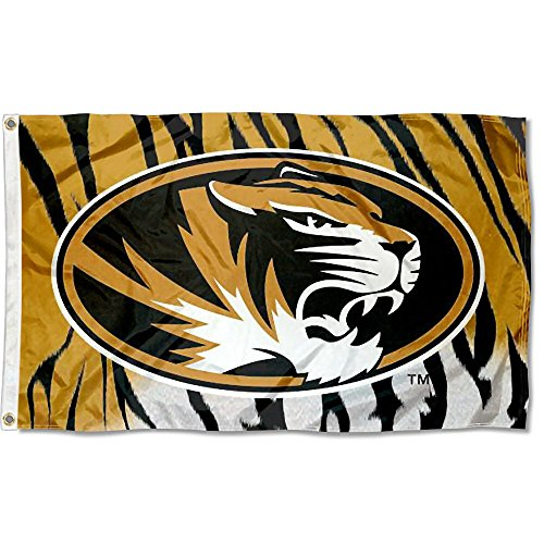 (College Flags and Banners Co. Missouri Tigers Tiger Stripe Flag Large 3x5 )