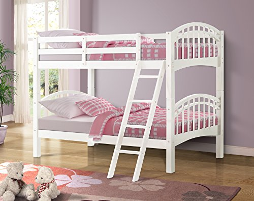 wood twin over full bunk bed - 5