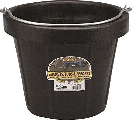 MARSHALLTOWN The Premier Line DF12 12 Quart Heavyweight Rubber Pail with Standard Lip