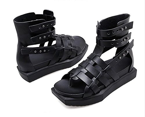 Ladies Xing Casual Women'S Tide Bottomed Summer Toe Platform Lin The Sandals Flat Sandals End Cool Boots The New Black At Of p5Wpgrqn