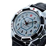 Vostok Komandirskie 431719 /2414a Military Russian Watch Special Forces White Red Star