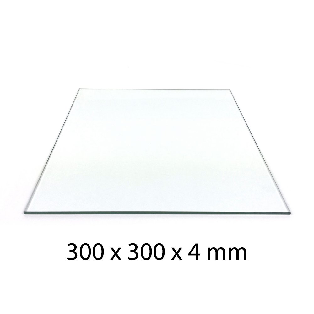 300 x 300mm Mirror Glass Plate For Heated 3D Printer Bed W Clips Creality Anet