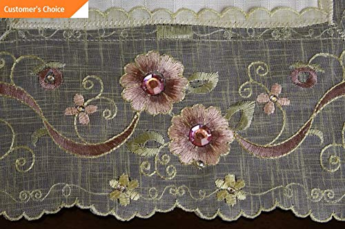 - Kaputar Embroidery Pink Bling Rhinestone Jeweled Embroidery Placemat Runner | Model TBLCLTH - 1552 | 16x45034