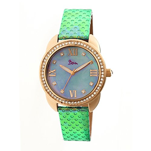Boum BM2703 Forte Ladies Watch, 40mm, Multicolor Strap, Blue Dial