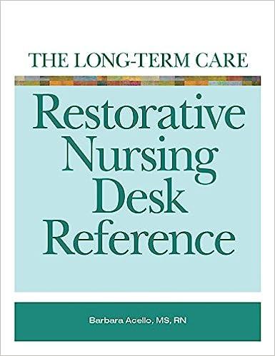 The Long Term Care Restorative Nursing Desk Reference