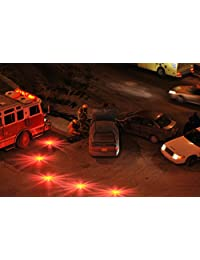Balizas luminosas Heliar LED, seguridad en la carretera, disco de emergencia, luz intermitente para automóvil, camión, botes con bolsa de almacenamiento (Paquete de 3 )