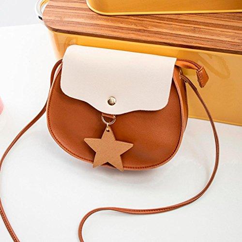 Crossbody Womens Tote Satchel Bag Messenger Women Shoulder Color Travel Bag Travel Handbags Tote Phone School Shoulder Brown Jimmkey Hit Bag Rucksack Bag Bag wq7x0Y8