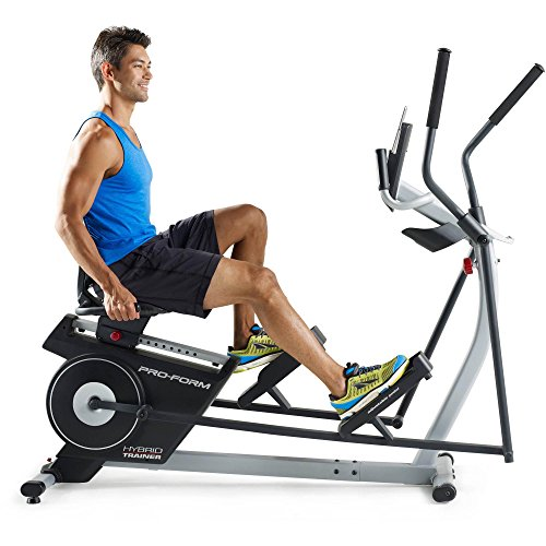 Elliptical Sit Down Bike: ProForm 2-in-1 Double Elliptical And Recumbent Bike, Black
