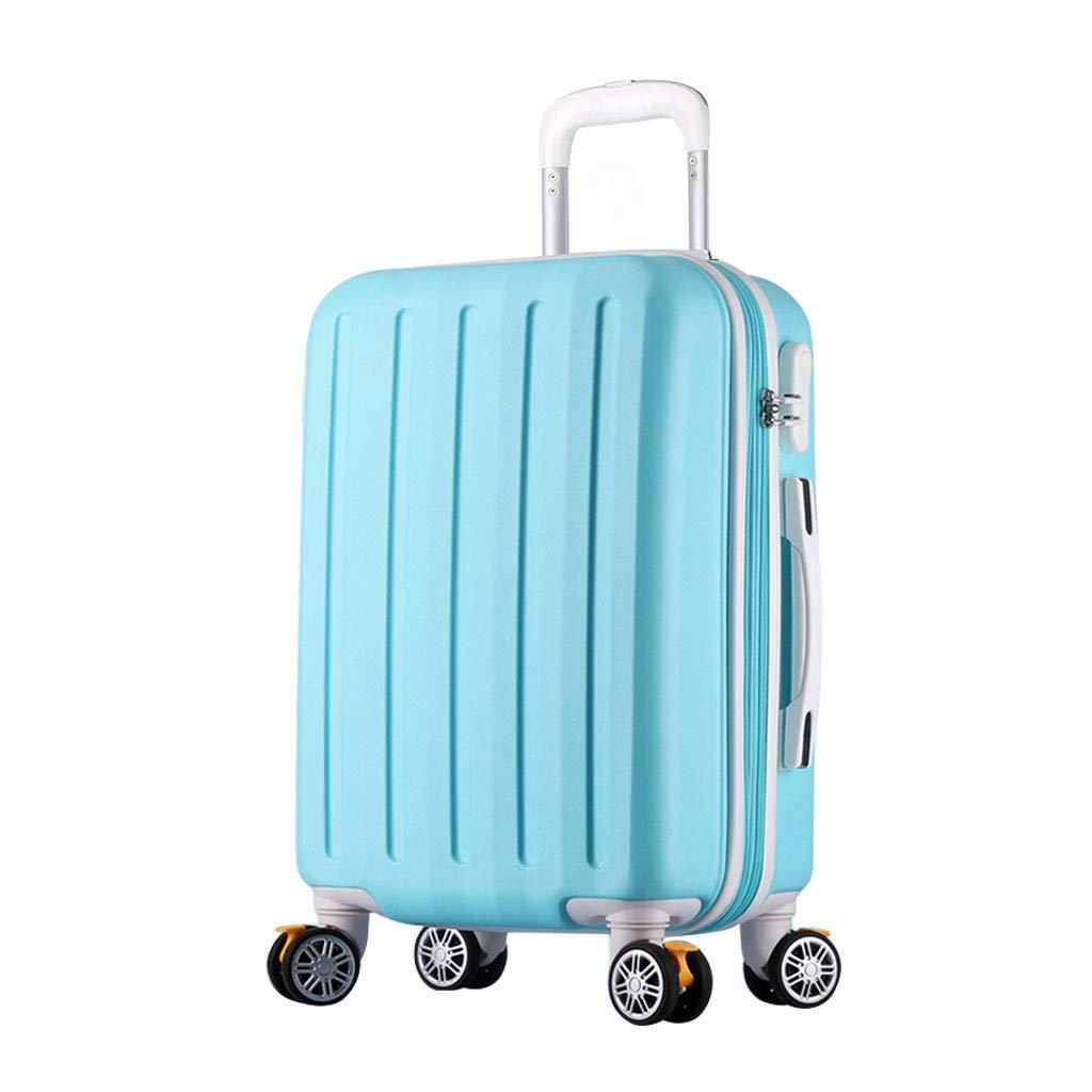 ハンド荷物スーツケース超軽量ABSハードシェル旅行は4つのホイール、航空&詳細情報のために承認されたハードシェルトロリーサイズのアドオンキャビンハンド荷物スーツケースキャリー   B07P6J9KLM