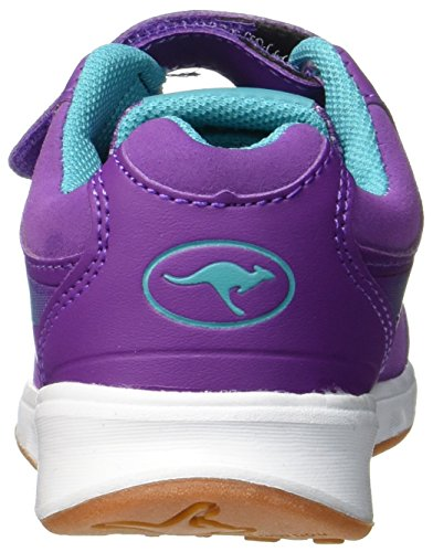 KangaROOS Unisex-Kinder Rodo EV Ii Sneaker Rot (Dk Berry/Turquoise Blue)