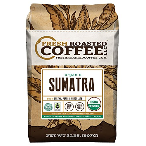 OFT Sumatra Coffee, Whole Bean, Fresh Roasted Coffee LLC (2 Lb.)