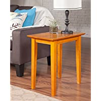 Atlantic Furniture AH13107 Shaker Side Table Rubberwood, Caramel Latte
