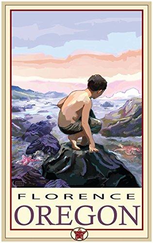 Florence Oregon Tidepool Travel Art Print Poster Joanne Kollman (30