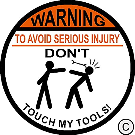 Vinyl Sticker Decal for Laptop Tumbler Car Notebook Window or Wall ITS A SKIN Warning to Avoid Injury Do Not Tell Me How to Do My Job Funny Novelty Decal