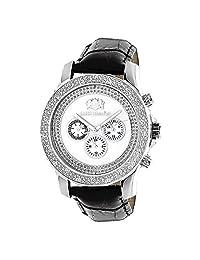 Luxurman Watches Mens Diamond Watch .25Ct White Freeze