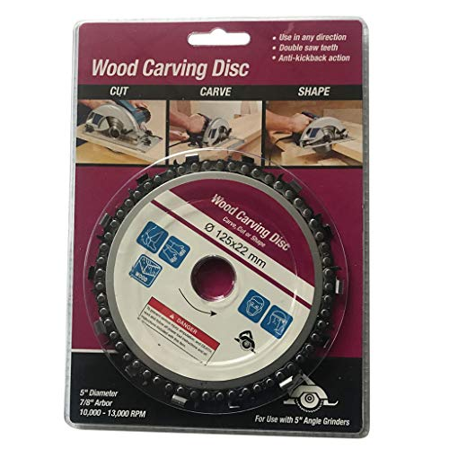 ❤Ywoow❤  Grinder Chain Disc Wood Carving Disc 5 Inch for 125mm Angle Grinder 14 Tooth (Best Pillow For Teeth Grinders)