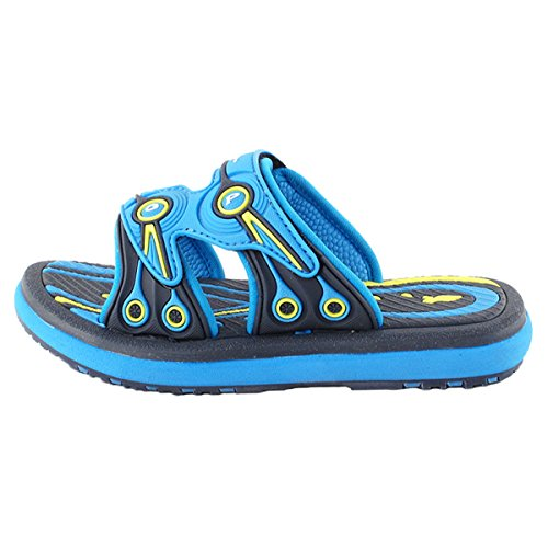 Gold Pigeon Shoes GP6888 Adjustable Durable Outdoor Water Slide Sandal Slippers For Men Women Kids (Size: T10 & up) 7526 Blue zUuygNs