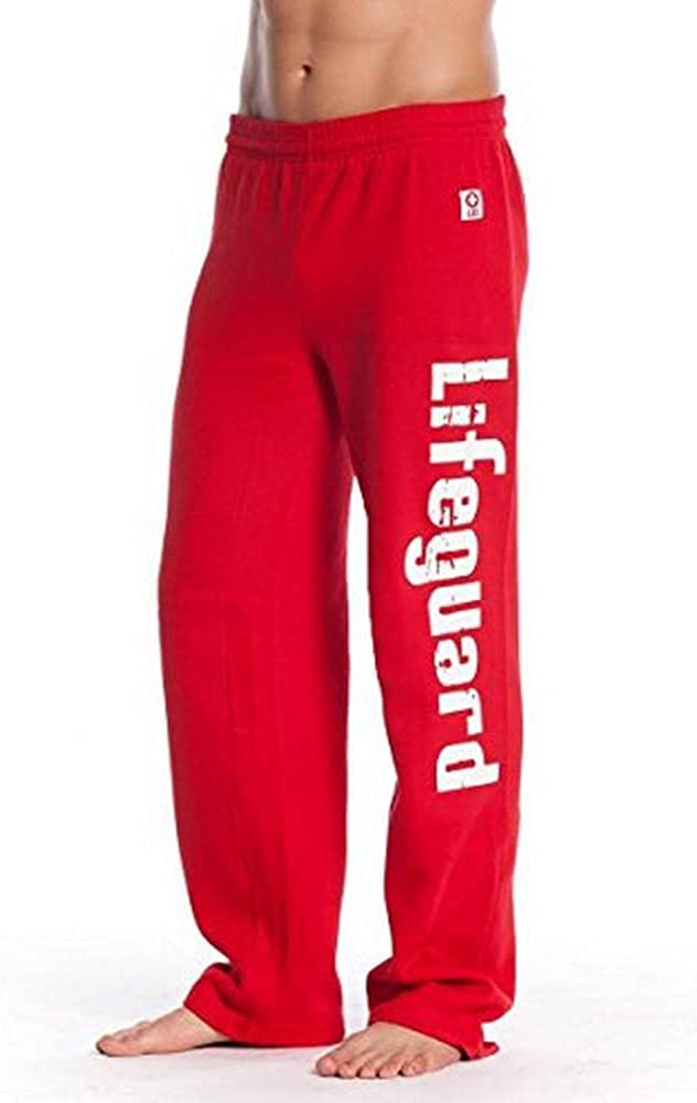 LIFEGUARD Official Guys Red Printed Fleece Sweatpants: Clothing