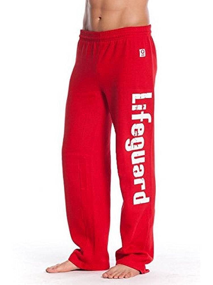 LIFEGUARD Official Guys Red Printed Fleece Sweatpants