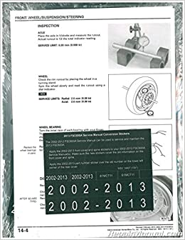 61mct11 2002 2013 Honda Fsc600 A Silver Wing Scooter Service Manual