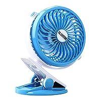 """BLUBOON Clip On Fan Battery Operated Quiet Silent 5"""" Portable Stroller Fan"""