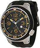 Swiss Legend Men's 21818S-C-GT Neptune Black Dial Black Silicone Watch by Swiss Legend