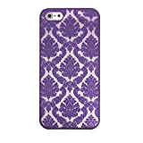 iPhone 6 Plus Case, iPhone 6S Plus Case, Let it be Free Hard Plastic Case For iPhone 6/6S Plus (5.5Inch) -- Baroque Retro Court Lace Pattern Texture Series (For iphone 6s plus , Purple)