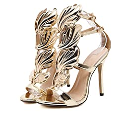 Welcome to our store, our shoes are Asian codes, it is recommended that buyers buy a big one or two big ones.Closure Type:Buckle Strap Style:Sexy Side Vamp Type:Open Back Counter Type:Back Strap Pattern Type:Solid Heel Type:Thin Heels Heel He...